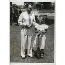 1933 Press Photo Al Espinosa & daughter Margaret at North Shore Golf club