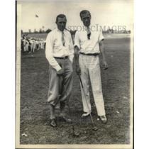 1928 Press Photo British golfers Aubrey Boomer and Archie Compston touring U.S.