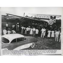 1956 Press Photo Republican Truth Squad Plane and Joe Smith Express, Kansas City