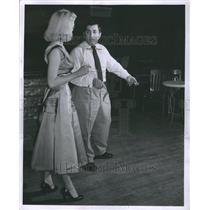 1956 Press Photo Gerry Raad Producer With Actress