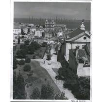 1963 Press Photo Lisbon Portugal Aerial View City Path - RRR49063