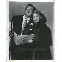 1950 Press Photo Gordon MacRae Jane Powell Railroad
