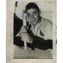1954 Press Photo Ray Jablonski leads the National League with batting average.