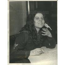 1922 Press Photo Pianist Evelione Taglione Canary