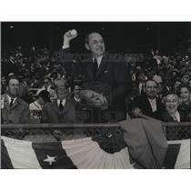 1955 Press Photo Gov. Kohler officially opened the 1955 National league baseball