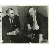 1936 Press Photo Col Robert McCormick, Chicago Publisher w/ Gov Alf M Landon
