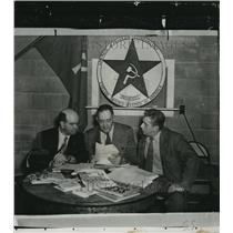 1950 Press Photo Group of men who will teach Mosinee about Communist yoke