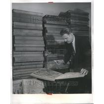 1957 Press Photo McGee 560 volumes