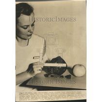 1937 Press Photo Mary McLaughen Emory Hospital Kidney - RRR51385