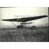 1981 Press Photo Kitbuilt Weedhopper Aircraft piloted & designed by John Chotia