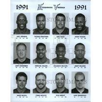 1992 Press Photo Football pro group Minnesota Vikings - spa33158