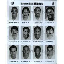 1989 Press Photo Football Pro Group Houston Oilers - spa33159