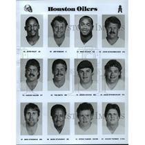 1989 Press Photo Football Pro Group Houston Oilers - spa33160