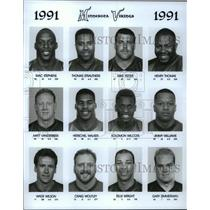 1991 Press Photo Football Pro Group Minnesota Vikings - spa33168