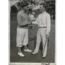 1933 Press Photo Willie Goggin and Jimmy Hines after winning golf matches