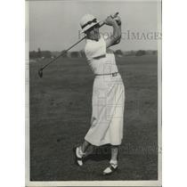 1933 Press Photo British women's golf champion Enid Wilson in Chicago, IL