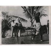 1935 Press Photo Golfer Horton Smith playing in the Miami Biltmore Open