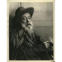 1928 Press Photo Trader Horn of Eveready Hour Radio Broadcast - nez24772
