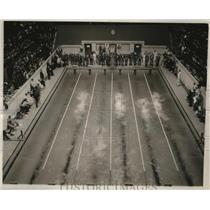 1940 Press Photo View of sixth heat of 100 meter freestyle , NCAA Championships