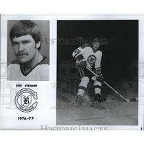 1976 Press Photo Bob Stewart plays for the Cleveland Barons. - cvb76497