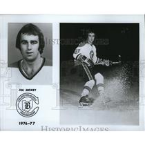 1976 Press Photo Jim Moxey plays for the Cleveland Barons. - cvb76500