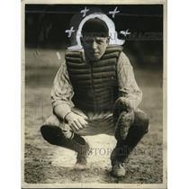1925 Press Photo Carl Schlee, Baseball Catcher - cvb76783
