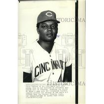1972 Press Photo Wayne Simpson, Cincinnati Reds - cvb76851