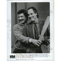 1987 Press Photo Keith Hernandez, Mets first baseman, on Robert Klein Time.