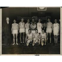1928 Press Photo Millrose AA team with William Ruckel won 65 mile race
