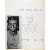 1950 Press Photo Albie Pearson of Washington Senators,1958 Rookie of the Year