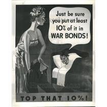 1943 Press Photo Posters Boost New War Loan Drive