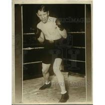 1925 Press Photo Boxer Ace Hudkins lightweight fighter at training - net24149