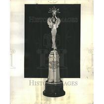 1933 Press Photo Trophies Medals Athletics Achievement