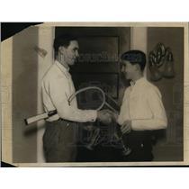 1923 Press Photo John F & Brainerd H Whitbeck won tennis titles - net24498