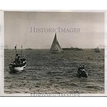 1937 Press Photo Boat the Ranger for America's Cup race at Newport RI