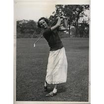 1933 Press Photo Amiela Gorczca at Women' sNational Golf at Exmmor club