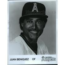 1984 Press Photo Baseball Juan Beniquez of California Angels - spa33516
