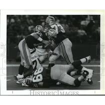 1992 Press Photo Football Pro Seattle Seahawks Action - spa33862