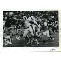 1990 Press Photo Football Pro Seattle Seahawks Action - spa33868