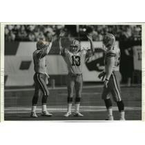 1992 Press Photo One of the most reliable kickers in NFL Chris Jacke, center.