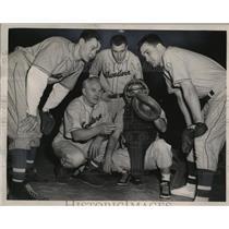 1949 Press Photo New Northwestern University Baseball Coach Freddie Lindstrom