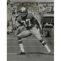 1975 Press Photo Jimmy Johnson, a cornerback for the San Francisco 49ers.