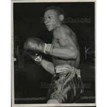 1945 Press Photo Alvin Jordan, Milwaukee lightweight in benefit show.