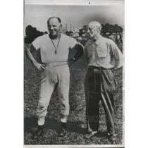 1952 Press Photo Joe Bach (l) the Pittsburgh Steelers' new head football coach.