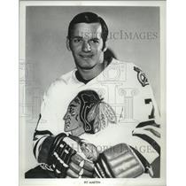 1973 Press Photo Chicago Black Hawks Pit Martin - mjs03699