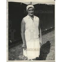 1929 Press Photo Close up of tennis star Helen Jacobs - nes52192