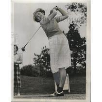 1937 Press Photo Golfer Betty Jameson advances in Southern Golf Championship