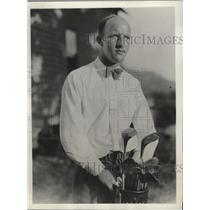 1932 Press Photo Golfer Ernest J. Peterson at Wyantenuck Country Club