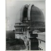1947 Press Photo View of Yerkes Observatory at the University of Chicago.