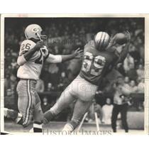1963 Press Photo Gail Cogdill gets second touchdown for Detroit Lions.
